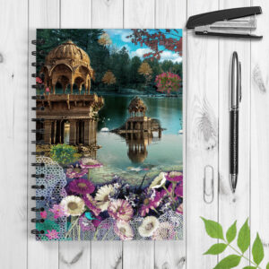 Beautiful Gadisar Lake Spiral Notebook