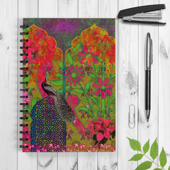 Peacock in Castle Spiral Notebook