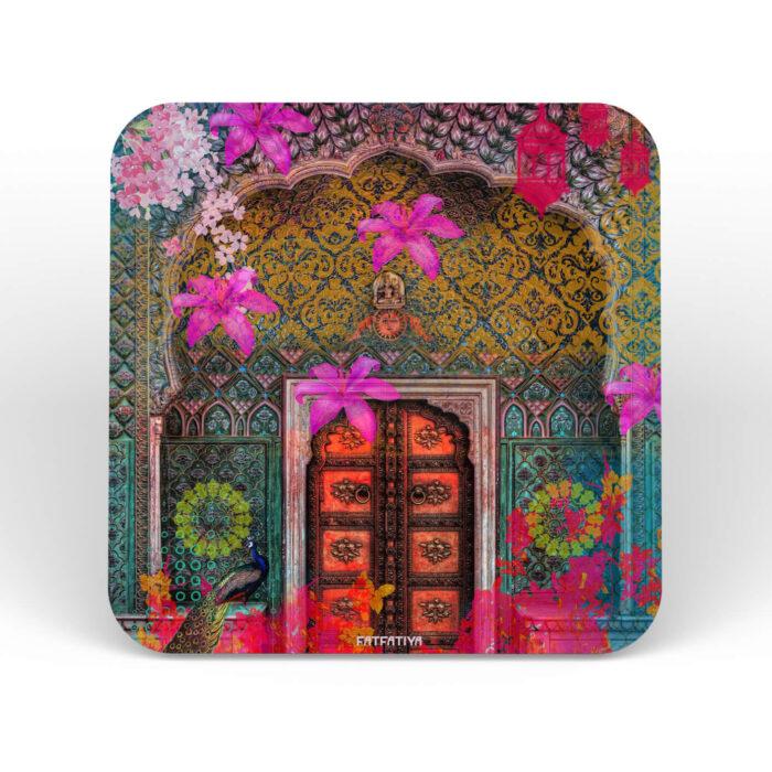 Flowery Door Table Coasters - Set of 6