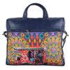 Crimson Auto Designer Canvas PU Designer Laptop Bag