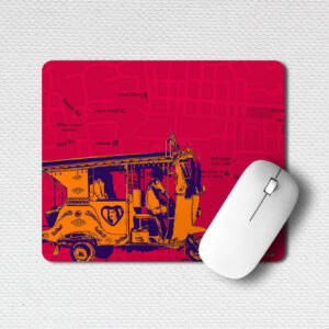 Orange Auto/Taxi Office Mouse Pad