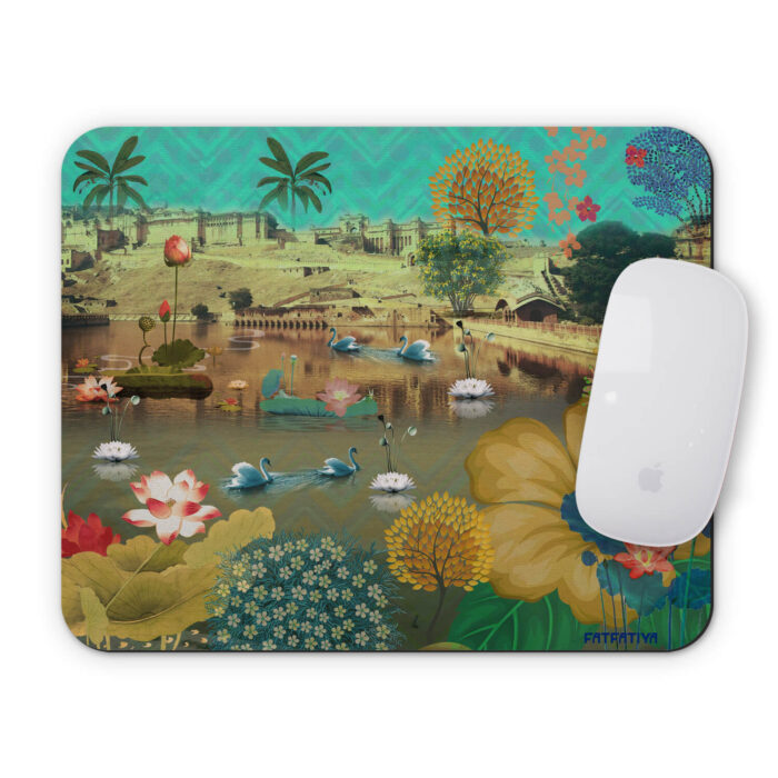 Beautiful Amer Fort Lake Mouse Pad