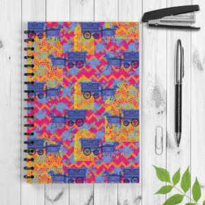 Horse Cart Design Spiral Notebook/Notepad
