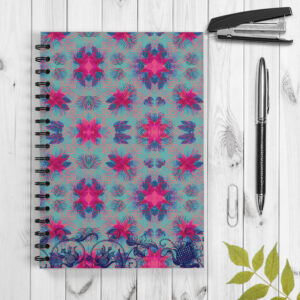 Indian Wedding Elephant Design Spiral Notebook