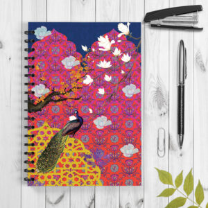 Peacock in Palace Wiro Designer Notebook