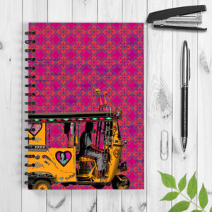 Yellow Auto Rickshaw Spiral Notebook