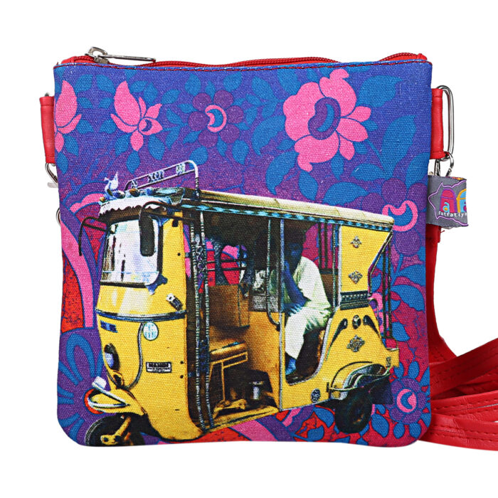 Shekhawati Auto Rickshaw Canvas PU Sling Bag