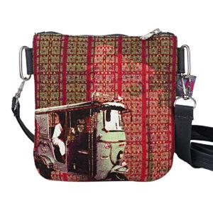 Classic Taxi Designer Canvas PU Sling Bag