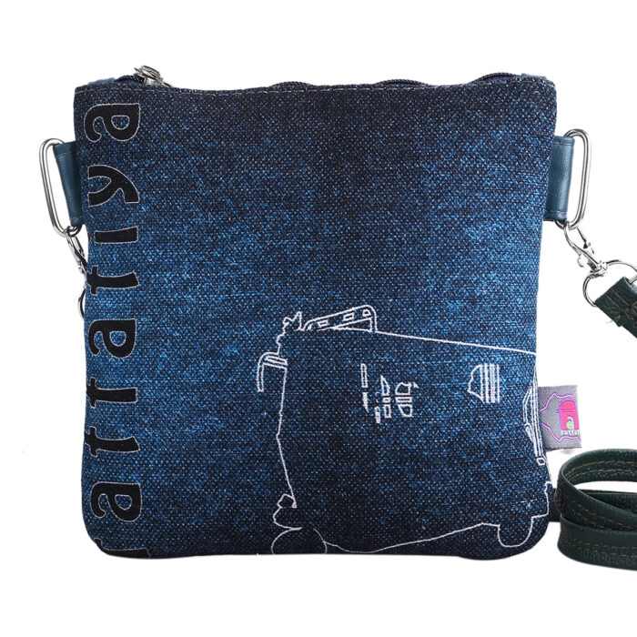 Auto Rickshaw Designer Canvas PU Sling Bag
