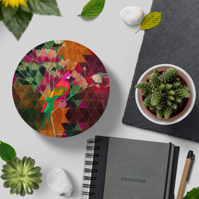 The Parrot Designer Printed MDF Coasters