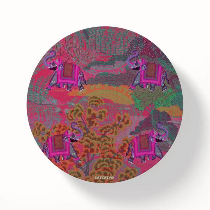 Shekhawati Ele Table Coasters - Set of 6