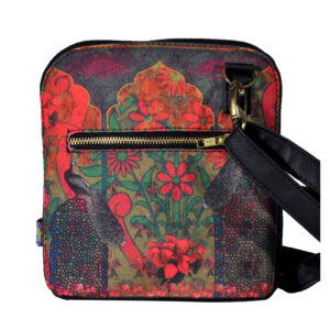 Colour Splash Flower Crossbody Bag For Women And Girls