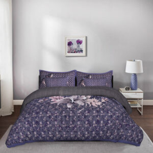 Birdsong 5 Piece King Size Cotton Designer Quilted Bedspread