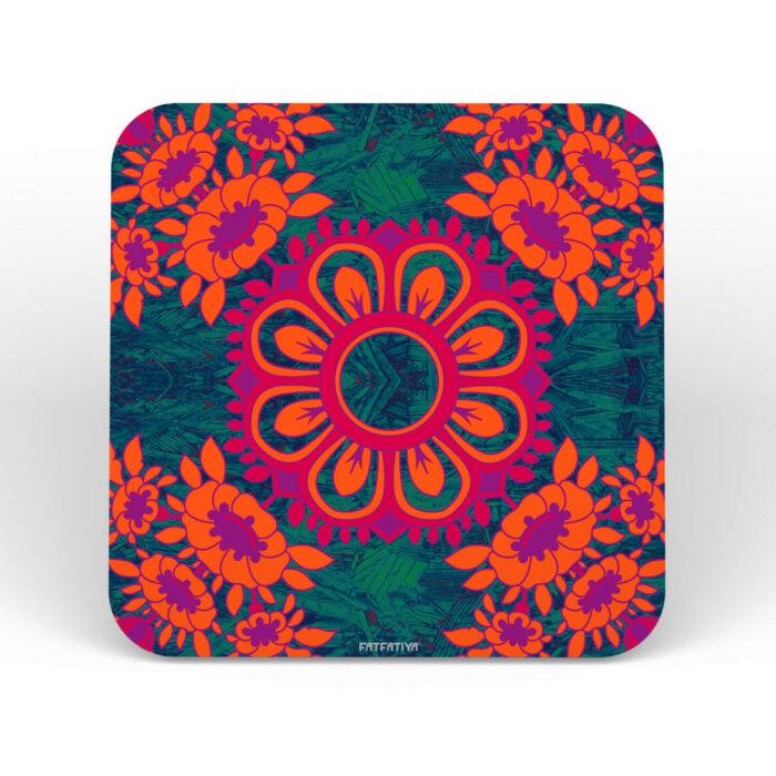 Buy Floral Motif Coasters Set Online