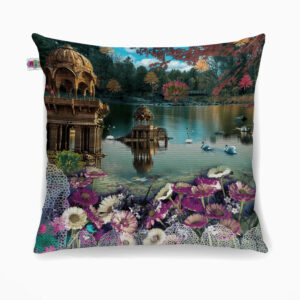 Gadisar Lake Poly Canvas Cushion Cover