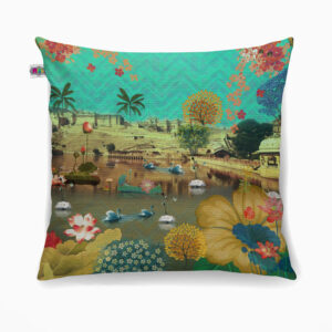 Beautiful Lakeside Poly Canvas Cushion Cover
