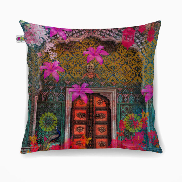 Royal Grace Poly Canvas Cushion Cover