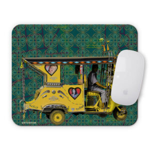 Yellow Auto Rickshaw Mouse Pad