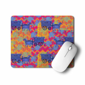 Horse Cart Design Mouse Pad