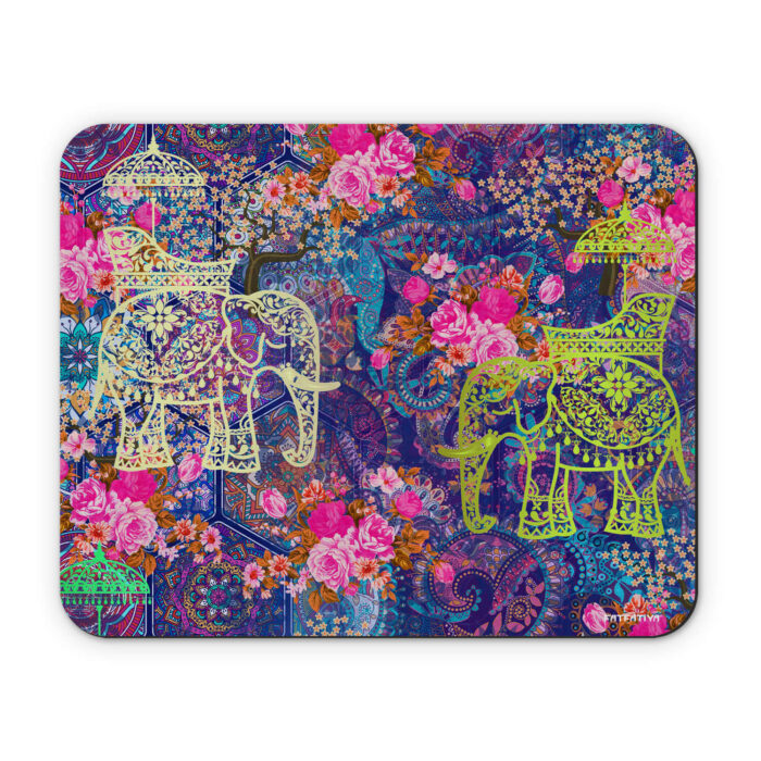 Two Indian Wedding Elephant Mouse Pad
