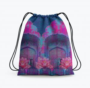 Cool Blue Rajasthani Drawstring Bag