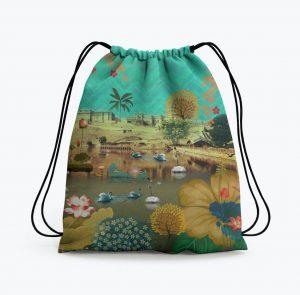 Beautiful Lakeside Drawstring Bag
