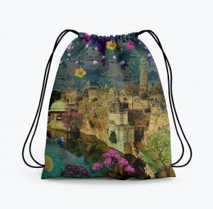 Beautiful Historical Fort Drawstring Bag