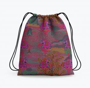 Rajasthani Haathi Drawstring Bag
