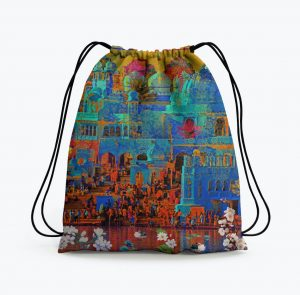 Indian Heritage Drawstring Bag
