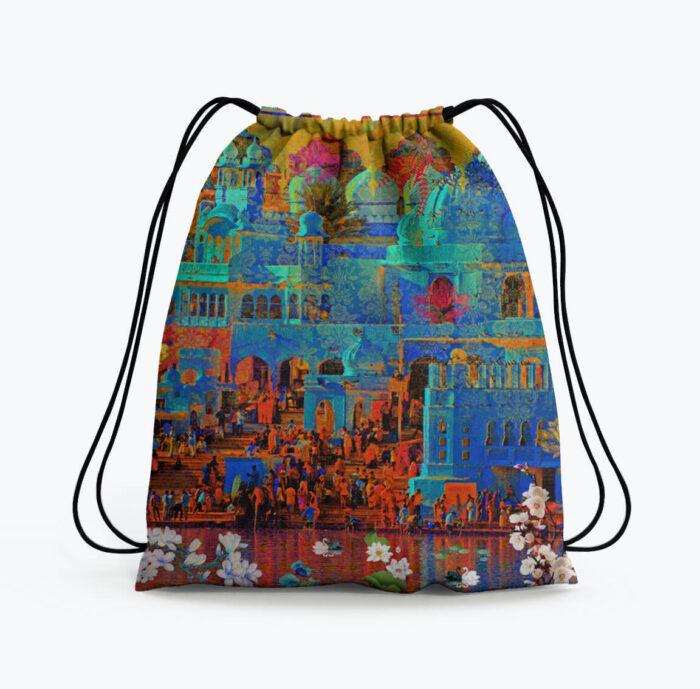 Indian Heritage Drawstring Bag