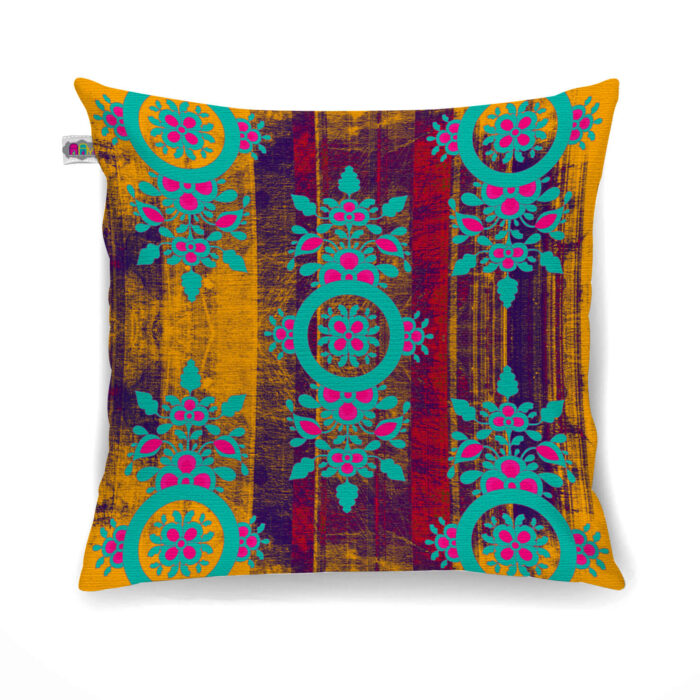 Exotic Flower Motif Cushion Cover Set of 2