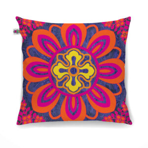 Radiant Flower Motif Cushion Cover Set of 2
