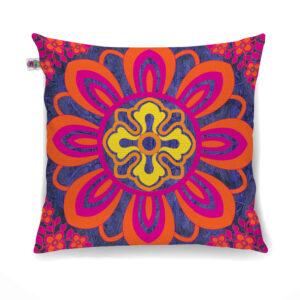 Radiant Flower Motif Cushion Cover Set of 2