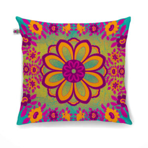 Spectacular Flower Motif Cushion Cover Set of 2