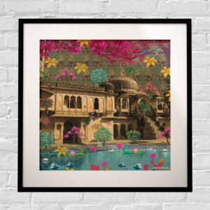 Beautiful Rajasthani Haveli Framed Indian Wall Art Print