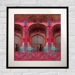 Pink Royal Door Framed Indian Wall Art Print