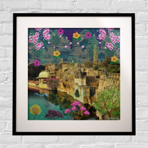 Beautiful Historical Framed Indian Wall Art Print