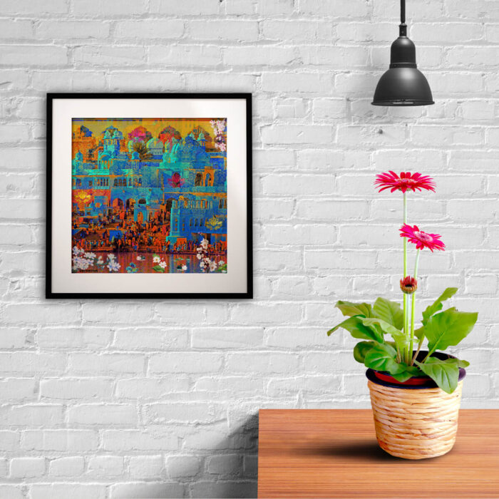 art print on wall