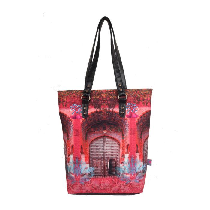Pink Royal Door Design Classic Tote Bag