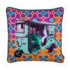 Turquoise Green Taxi Glaze Cotton Cushion Cover