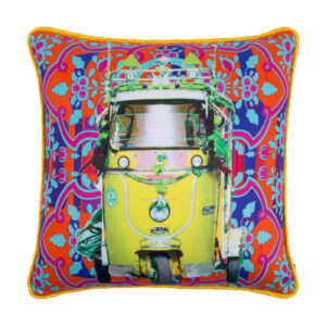 Lemon Yellow Taxi Glaze Cotton Cushion Cover