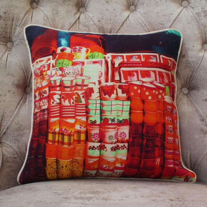 Tea Cups Cushion Cover