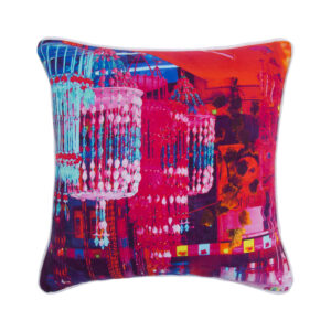 Chandeliers Glaze Cotton Cushion Cover 16x16 Inches