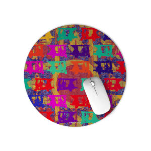 Pop Auto Rickshaws Round Mouse Pad