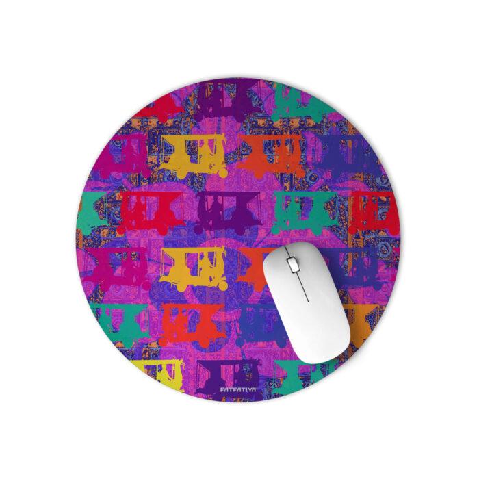 Vibrant Auto Rickshaws Round Mouse Pad