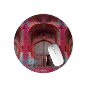 Pink Royal Door Design Mouse Pad