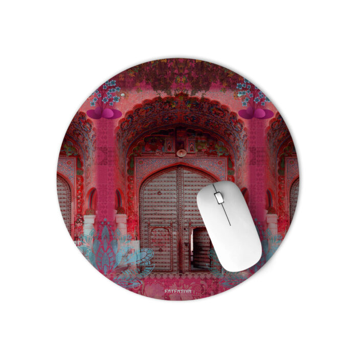 Pink Royal Door Design Mouse Pad