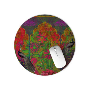 Two Beautiful Peacock Round Mouse Pad