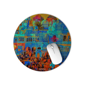 Indian Heritage Round Office Mouse Pad