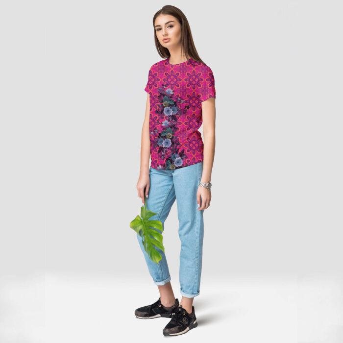 Multicoloured Stylish Round Neck T-Shirt